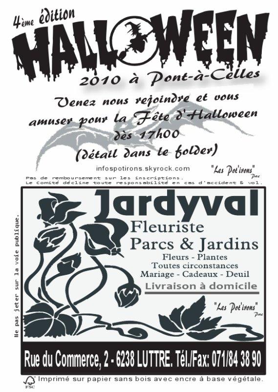 Sponsors Halloween Pont-à-Celles 2010