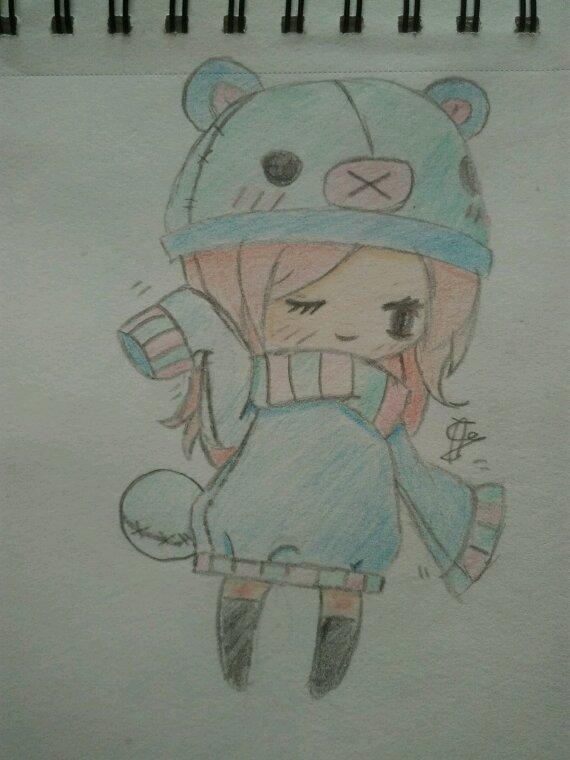 Petit dessin chibi fait avec model :)