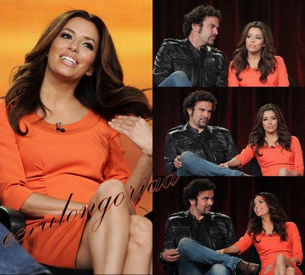 Eva et Ricardo Chavira, très complices, sur le tournage de la dernière saison de Desperate Housewives à Los Angeles le 13 février 2012 !