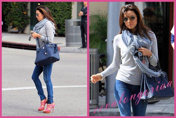 Eva dans les rues de Beverly Hills... 15 mars 2012