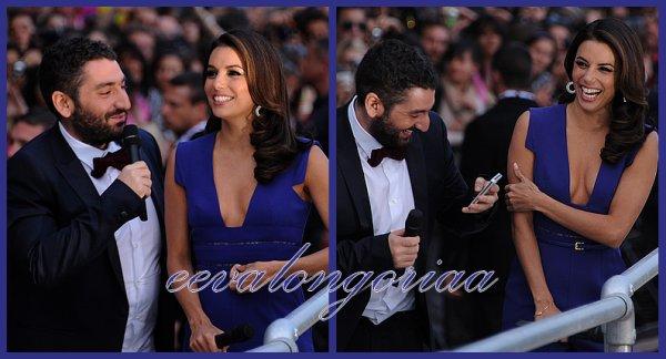 Eva, en compagnie de Ben Stiller et Mouloud Achour, était l'invitée de l'émission Le Grand Journal sur Canal +, lors du Festival de Cannes, le 17 mai 2012.