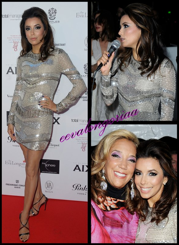 Soirée du 18 mai 2012... Cannes: Eva récolte 100.000 euros pour sa fondation qui aide la recherche médicale