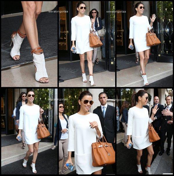 29 mai 2012... Eva quitte le prestigieux hotel Georges V, direction l'aéroport du Bourget d'ou elle doit s'envoler pour Londres... Puis ballade à Londres avec une amie..