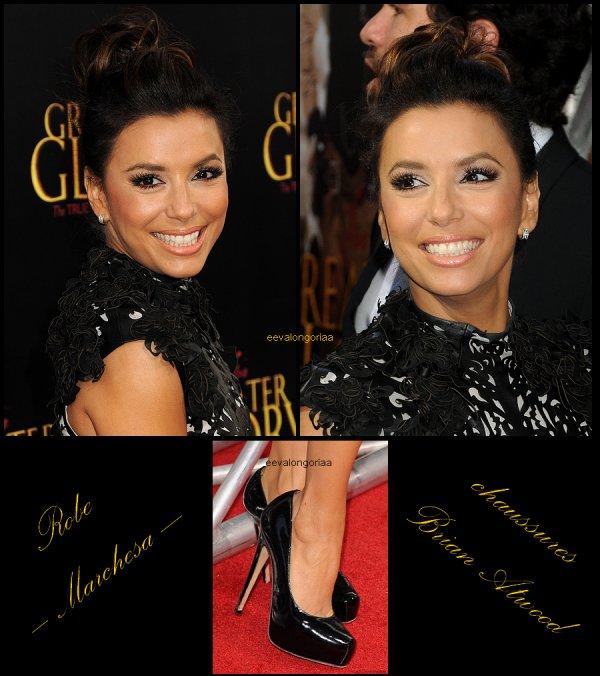 """31 mai 2012... Eva à la première de """"For Greater Glory"""" à Los Angeles."""