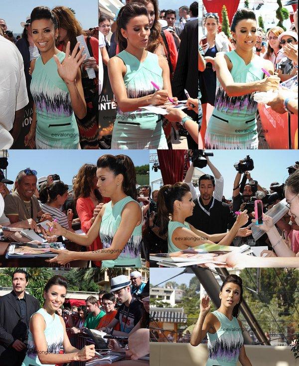 13 juin 2012... Eva Longoria était la vedette de la journée au festival de Monte-Carlo 2012.