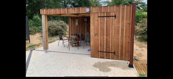 Pool house bois de pins des Landes