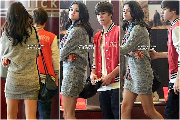 * 25 FÉVRIER 2012__••__Selena et Justin se sont retrouvés pour aller manger chez Sushi Dan, et sont après allé au ______________________cinéma. + Retrouve une photo de Jelena postée par Justin sur Instagram. *