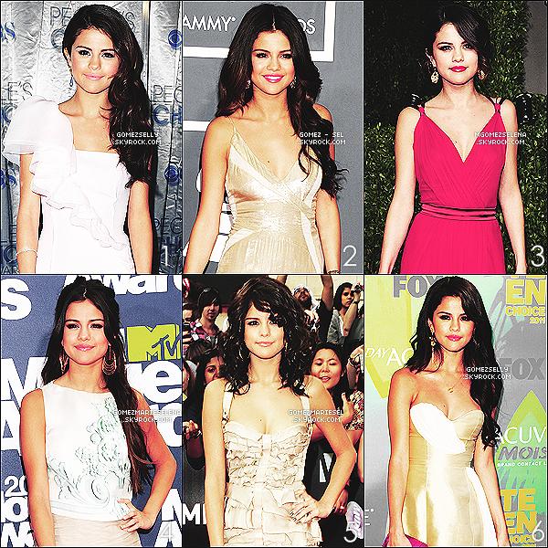 . Redécouvrez diverses coiffures de Selena lors des cérémonies de 2011, d'après vous laquelle lui va le mieux ? Article en collaboration avec le groupe des Selena's affiliates : Gomez-Sel, MGomezSelena, GomezSelly et GomezMarieSelena.  .