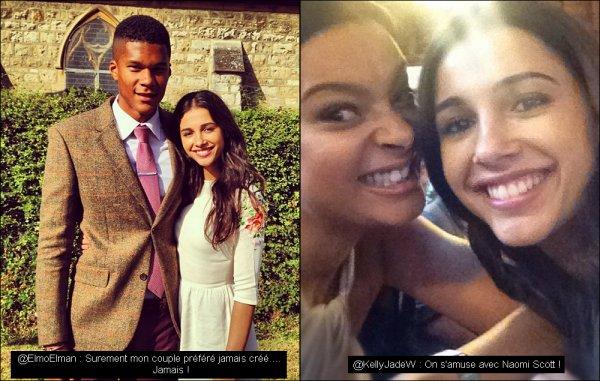 22.09.2012 : Naomi assistait au marriage de ses amis, en companie de son petit-ami Jordan Spence ! Découvres deux photos du joli couple et de Naomi et une de ses amie !