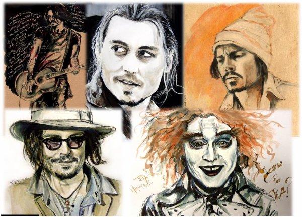 Une artiste hors du commun peint Johnny dans toute sa splendeur !