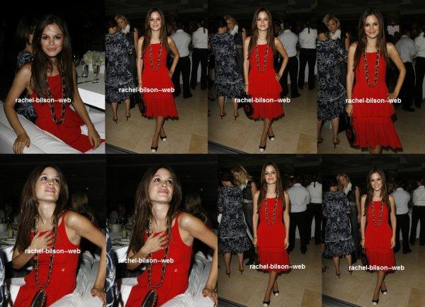 """le 18 juillet 2006 - rachel au Chanel """"Sublimage"""" Dîner"""
