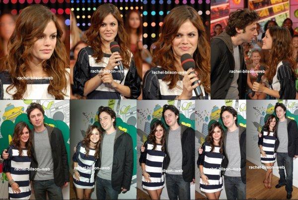 le 8 septembre 2006 - MTV TRL Presents Zach Braff & Rachel Bilson