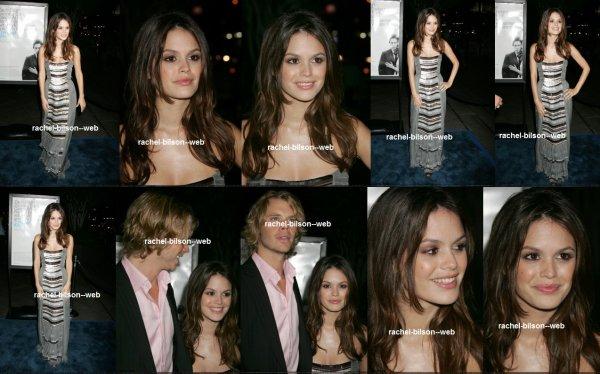 """le 13 septembre 2006 - rachel a la Premiere de Dreamwork de """"The Last Kiss"""""""