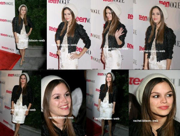 le 20 septembre 2006 - rachel au Teen Vogue Young Hollywood Edition