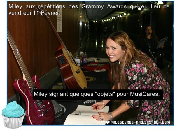 Repetitions pour les Grammys.