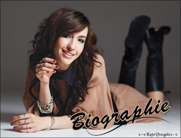 ♥  Kate Voegele - Biographie ♥