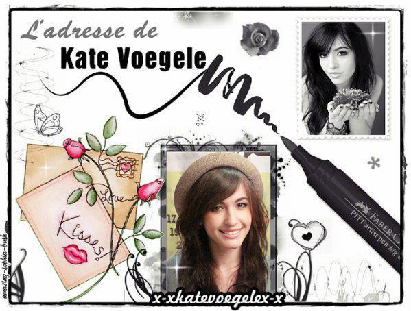 ♥ L'adresse de Kate Voegele ♥