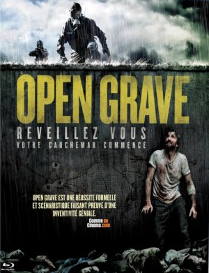 Open grave.