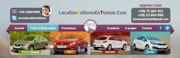 forumCar location de voitures en Tunisie Le prix moins cher 13£