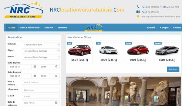 NRC Location de voiture en tunisie
