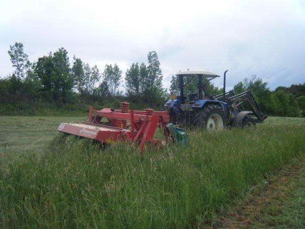 Fauchage 2011 >>> New Holland avec Kverneland <<<