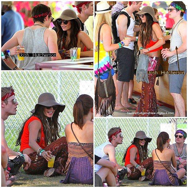 """. ACTU . Vanessa, la nouvelle reine hippie. . . . En effet, en avril, le festival de musique Coachella en Californie a réunis un bon nombre de célébrités. Vanessa Hudgens était de la partie avec 2 tenues sublimes! Elle a également été apperçue avec Josh Hutcherson, sa co-star dans """"journey 2: the mysterious island"""". Les deux """"amis"""" semblent se rapprocher de plus en plus. Il y a quelques jours, les paparazzis les auraient apperçus main dans la main. Après la rupture de Vanessa et Zac le 13 décembre dernier, la jolie brune semble avoir trouvé un remplaçant. Qu'en pensez-vous? . ."""