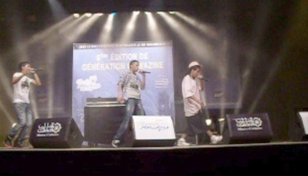 M-Boss Ft Snk rap sur scène:)