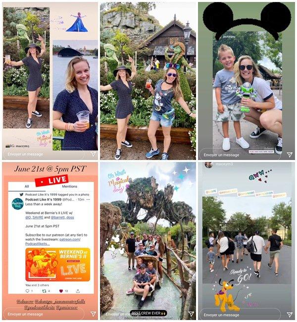 Du 16 au 25 Juin 2021, Danielle a posté sur son Instagram