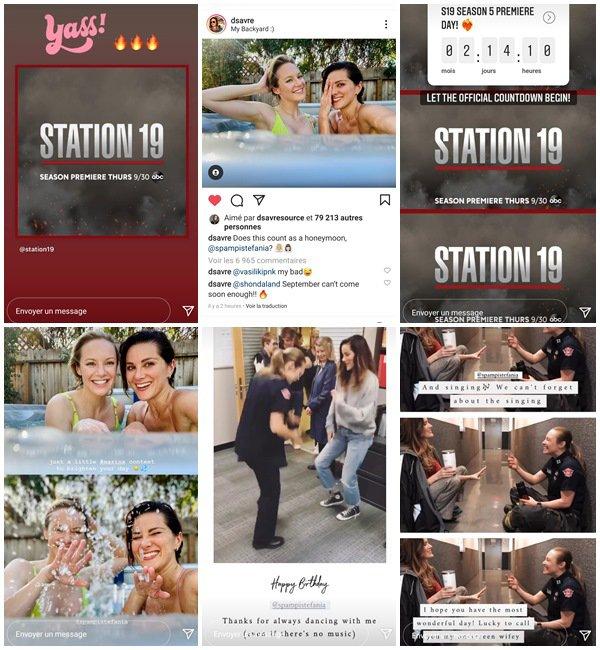 Du 27 Juin au 21 Juillet 2021, Danielle a posté sur son Instagram