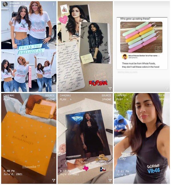 Du 26 Juin au 4 Juillet 2021, Emeraude a posté sur son Instagram