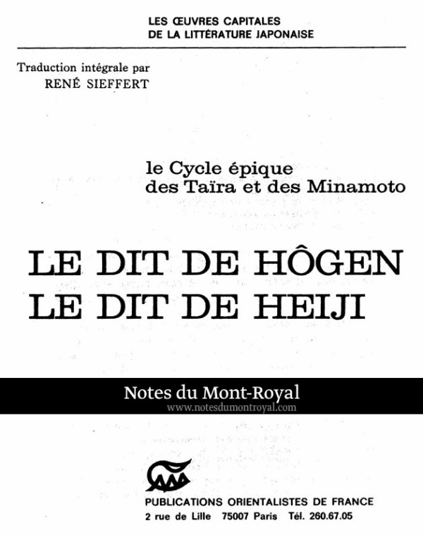 Hôgen Monogatari - Heiji Monogatari