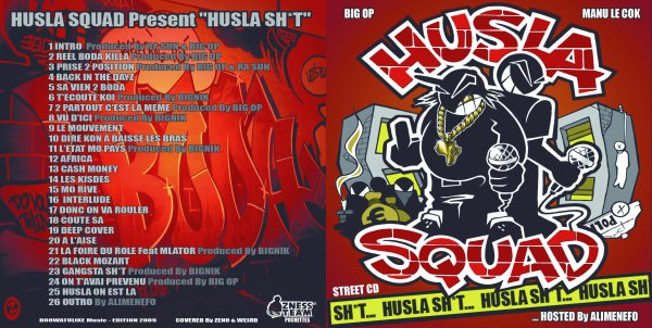 HUSLA SHIT / Deep Cover - Street Cd- HUSLA SHIT  (2009)