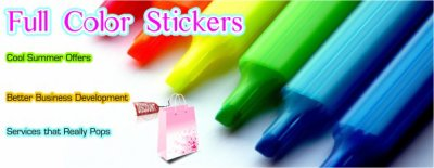 Get profit incremental phenomena with solid promotional activities and do print your promotional message on custom stickers, stick your printed labels on the product and give product explanation with stickers,  hold on your prospective with qualitative promotional products like pockets folders, car stickers, window decals, custom stickers, bumper stickers, vinyl stickers etc.