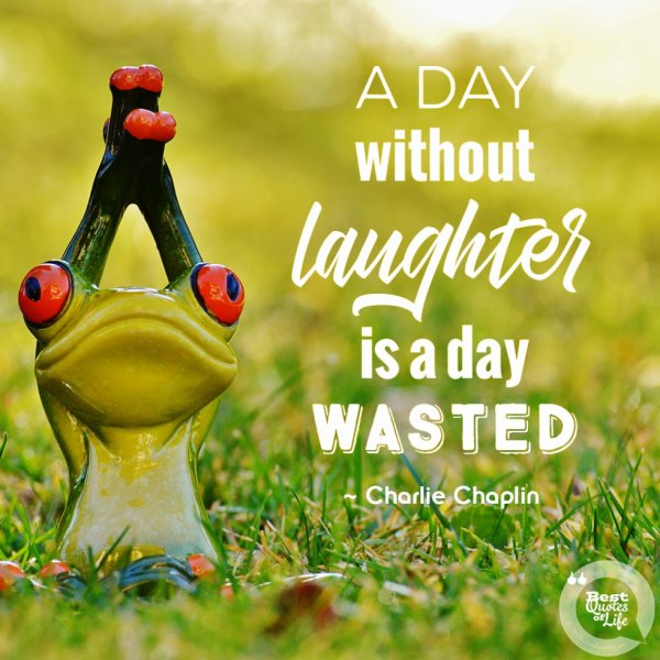 """A day without laughter is a day wasted"" ~ Charlie Chaplin"