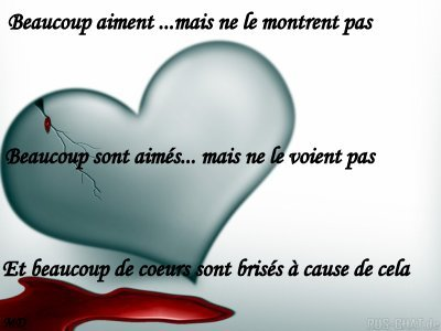 Dommage...