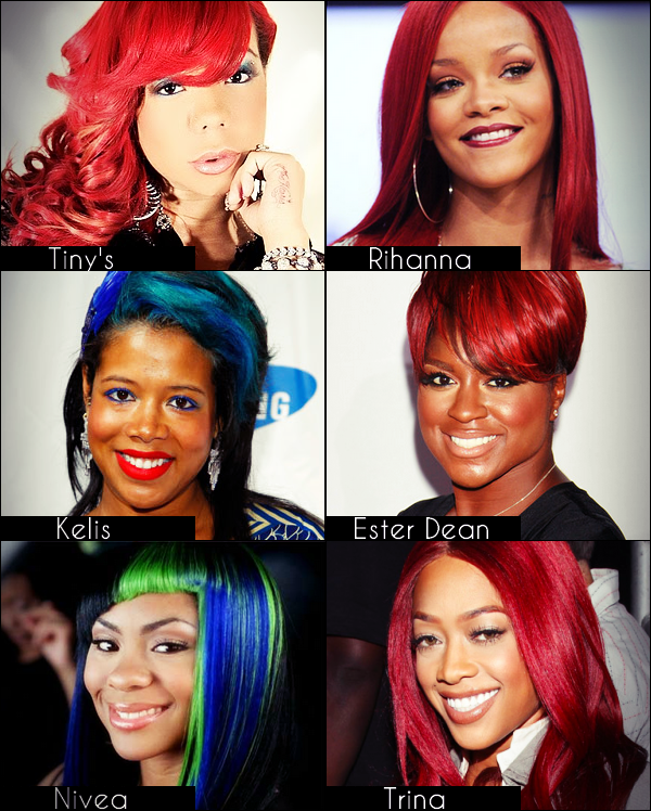 Leurs cheveux en voient de toutes les couleurs !