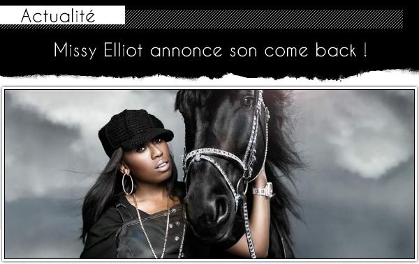 Missy Elliott : un nouvel album