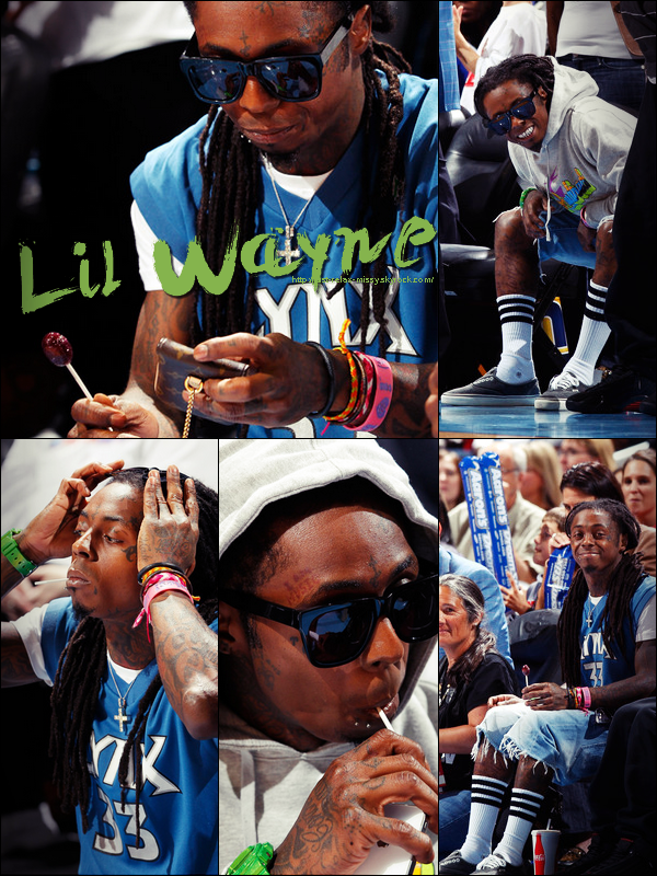 Lil Wayne at WNBA Finals