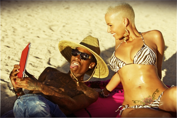 Wiz Khalifa & Amber Rose  In Honolulu