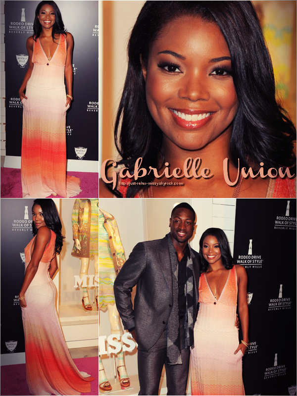 """Gabrielle Union & Dwyane Wade,  Iman Celebrate With """"Rodeo Drive Style Icon"""""""