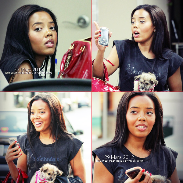 Angela Simmons Takes Her Doggy to the Salon