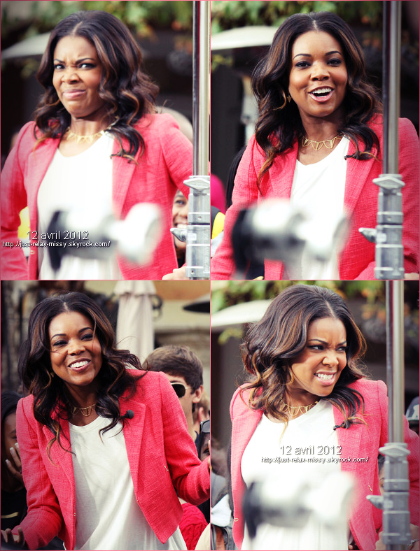 "Gabrielle Unions TAPES ""EXTRA!"" At The Grove"
