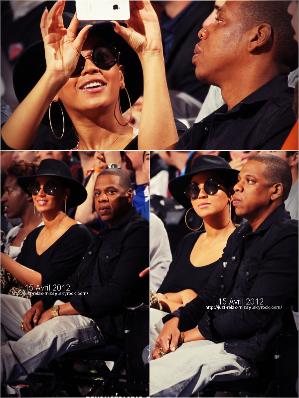 Beyonce And Jay Z Courtside At The Miami Heat Vs New York Knicks Game