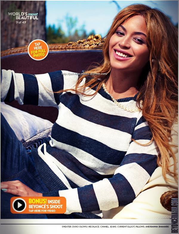 La chanteuse Beyoncé est la plus belle femme au monde en 2012 selon l'hebdomadaire américain «People»