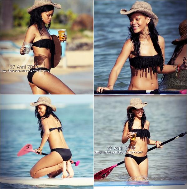 Rihanna : Sur la plage de Hawaï en avril 2012
