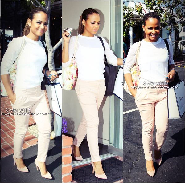 Christina Milian goes shopping / Melrose Avenue in Hollywood