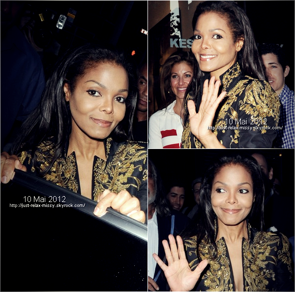Janet Jackson takes in an art event in New York City