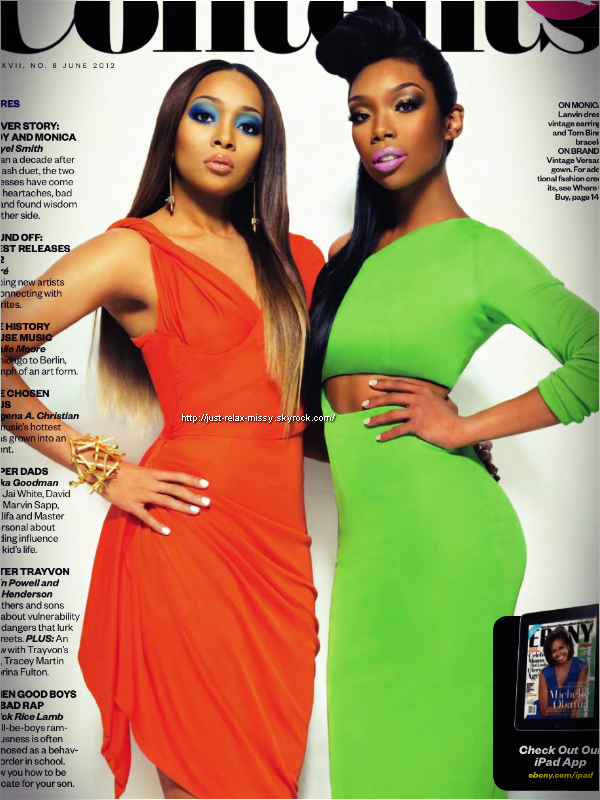 Brandy & Monica : Ebony Magazine