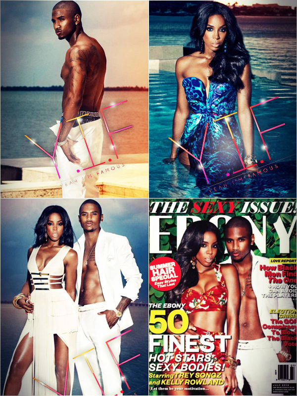 Trey Songz & Kelly Rowland cover EBONY