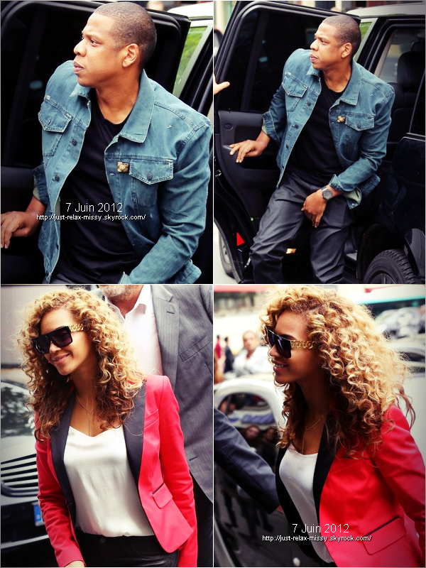 Beyonce and Jay-Z Out in Paris